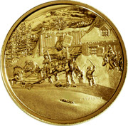 Canada 200 Dollars Cornelius Krieghoff - The Habitant Farm 2001 KM# 418 - coin reverse