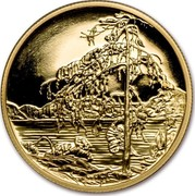 Canada 200 Dollars Tom Thompson's The Jack Pine 2002 KM# 466 coin reverse
