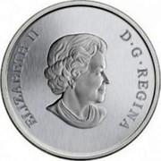 Canada 25 Cents 2014 KM# 1572 Circulation Coins ELIZABETH II D G REGINA coin obverse