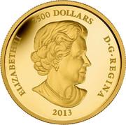Canada 2500 Dollars Canadian Arctic Landscape 2013 KM# 1372 ELIZABETH II 2500 DOLLARS D ∙ G ∙ REGINA 2013 SB coin obverse