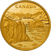 Canada 2500 Dollars Canadian Arctic Landscape 2013 KM# 1372 CANADA WDW coin reverse