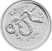 Australia 30 Dollars Year of the Snake 2013 P Proof KM# 1834 YEAR OF THE SNAKE coin reverse