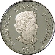 Canada 4 Dollars Heroes of 1812 - Laura Secord 2013 Proof KM# 1452 ELIZABETH II CANADA D∙G∙REGINA 2013 coin obverse
