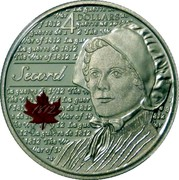 Canada 4 Dollars Heroes of 1812 - Laura Secord 2013 Proof KM# 1452 4 DOLLARS LA GUERRE DE 1812 THE WAR OF 1812 SECORD 1812 coin reverse