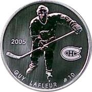 Canada 50 Cents Guy LaFleur 2005 Proof, Specimen KM# 577 2005 GUY LAFLEUR #10 coin reverse