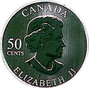 Canada 50 Cents Jaque Plante 2005 Proof, Specimen KM# 578 CANADA 50 CENTS ELIZABETH II coin obverse
