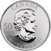 Canada 50 Cents Montreal Canadians 2005 Proof, Specimen KM# 580 CANADA 50 CENTS ELIZABETH II coin obverse