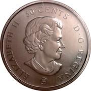 Canada 50 Cents Montreal Canadiens 2009 KM# 859 ELIZABETH II 50 CENTS D.G. REGINA coin obverse