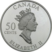 Canada 50 Cents Quebec Winter Carnival 2001 Proof KM# 420 CANADA 50 CENTS ELIZABETH II coin obverse