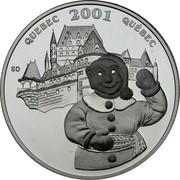Canada 50 Cents Quebec Winter Carnival 2001 Proof KM# 420 QUEBEC 2001 QUÉBEC SD coin reverse