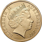 Australia 1 Dollar Air Series - Crimson Rosella 2009 ELIZABETH II AUSTRALIA 2009 IRB coin obverse