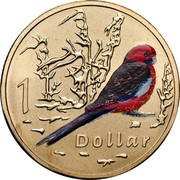 Australia 1 Dollar Air Series - Crimson Rosella 2009 1 DOLLAR coin reverse