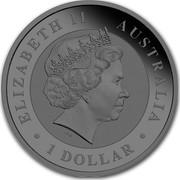 Australia 1 Dollar Australian Emu (Black-n-Gold) 2018 P ELIZABETH II • AUSTRALIA • 1 DOLLAR • IRB coin obverse