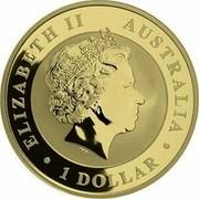 Australia 1 Dollar Australian Emu (Gilded and Colored) 2018 P ELIZABETH II • AUSTRALIA • 1 DOLLAR • IRB coin obverse