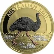 Australia 1 Dollar Australian Emu (Gilded and Colored) 2018 P AUSTRALIAN EMU 2018 1OZ 9999 SILVER P coin reverse