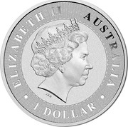Australia 1 Dollar (Australian Kangaroo) ELIZABETH II AUSTRALIA 1 DOLLAR coin obverse