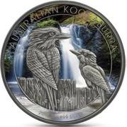 Australia 1 Dollar Australian Kookaburra (Antique finish Color) 2017 AUSTRALIAN KOOKABURRA 2017 1OZ 999 SILVER P coin reverse