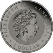 Australia 1 Dollar Australian Kookaburra (Gold Hologram) 2018 P ELIZABETH II • AUSTRALIA • 1 DOLLAR • IRB coin obverse