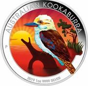 Australia 1 Dollar Australian Kookaburra (Sundown) 2019 P AUSTRALIAN KOOKABURRA 2019 1OZ 9999 SILVER P coin reverse
