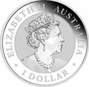 Australia 1 Dollar Australian Kookaburra (Sunrise) 2019 P ELIZABETH II AUSTRALIA • 1 DOLLAR • J.C coin obverse