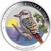 Australia 1 Dollar Australian Kookaburra (Sunrise) 2019 P AUSTRALIAN KOOKABURRA 2019 1OZ 9999 SILVER P coin reverse