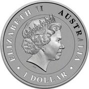 Australia 1 Dollar Australian Saltwater Crocodile (Colorized) 2014 P ELIZABETH II • AUSTRALIA • 1 DOLLAR • IRB coin obverse