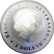 Australia 1 Dollar Australian Saltwater Crocodile (Gilded) 2014 P ELIZABETH II • AUSTRALIA • 1 DOLLAR • IRB coin obverse