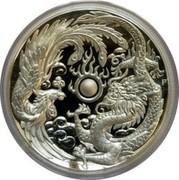 Australia 1 Dollar (Dragon & Phoenix. High Relief) P TV coin reverse