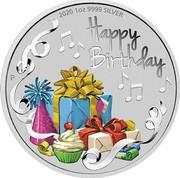 Australia 1 Dollar Happy Birthday 2019 P 2019 1OZ 9999 SILVER HAPPY BIRTHDAY coin reverse