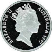 Australia 1 Dollar Sir Charles Kingsford Smith 1997 Proof KM# 327a ELIZABETH II AUSTRALIA 1997 RDM coin obverse