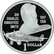 Australia 1 Dollar Sir Charles Kingsford Smith 1997 Proof KM# 327a SIR CHARLES 1897 KINGSFORD 1935 SMITH 1 DOLLAR coin reverse