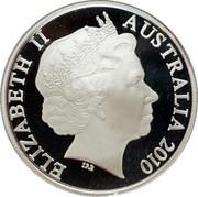 Australia 1 Dollar Year of the Tiger 2010 ELIZABETH II AUSTRALIA 2010 IRB coin obverse