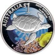 Australia $1 Great Barrier Reef 2010 KM# 1384a AUSTRALIA $1 GREAT BARRIER REEF 1OZ 999 SILVER coin reverse