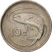 Malta 10 Cents 1986 Proof KM# 76 Reform Coinage coin reverse