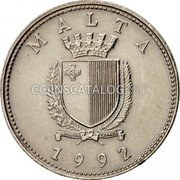Malta 10 Cents 1992 KM# 96 Reform Coinage coin obverse
