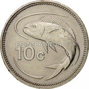 Malta 10 Cents 1992 KM# 96 Reform Coinage coin reverse