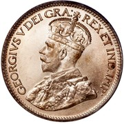 Canada 10 Cents George V 1936 Dot Dot on reverse. Specimen KM# 23a GEORGIVS V DEI GRA: REX ET IND:IMP: coin obverse