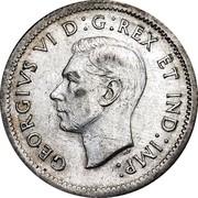 Canada 10 Cents George VI 1939 KM# 34 GEORGIVS VI D:G:REX ET IND:IMP: coin obverse