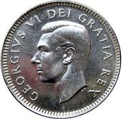 Canada 10 Cents George VI 1949 KM# 43 GEORGIVS VI DEI GRATIA REX HP coin obverse