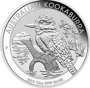 Australia 10 Dollars Australian Kookaburra 2019 P UNC AUSTRALIAN KOOKABURRA P 2019 10 OZ 9999 SILVER coin reverse