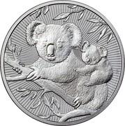 Australia 10 Dollars Koala and baby 2018 P coin reverse