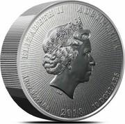 Australia 10 Dollars Koala. Piedfort 2019 ELIZABETH II AUSTRALIA 10OZ 9999 AG 2018 10 DOLLARS coin obverse