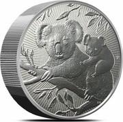 Australia 10 Dollars Koala. Piedfort 2019 P coin reverse