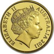 Australia 10 Dollars Ram's Head 2011 Proof ELIZABETH II AUSTRALIA 2011 IRB coin obverse