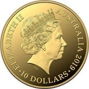 Australia 10 Dollars The Bold, The Bad and The Ugly 2019 ELIZABETH II AUSTRALIA 2019 • 10 DOLLARS • IRB coin obverse