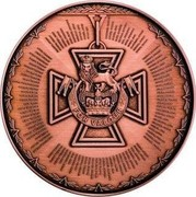 Australia 10 Dollars Victoria Cross for Australia 2014 KM# 2175 FOR VALOUR coin reverse
