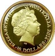 Australia 10 Dollars Year of the Horse 2014 ELIZABETH II AUSTRALIA 2014 10 DOLLARS coin obverse
