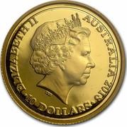 Australia 10 Dollars Year of the Snake 2013 ELIZABETH II AUSTRALIA 2013 10 DOLLARS IRB coin obverse