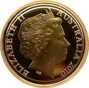 Australia 10 Dollars Year of the Tiger 2010 ELIZABETH II AUSTRALIA 2010 IRB coin obverse