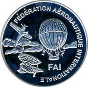 Finland 10 Euro 1st World Air Games Turkey 1997 UNC X# 46 FÉDÉRATION AÉRONAUTIQUE INTERNATIONALE FAI coin obverse